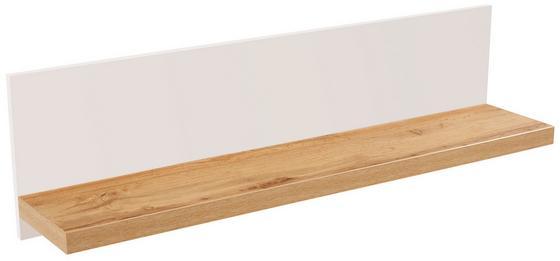 Police Nástěnná Eleganza - barvy dubu, Moderní, dřevěný materiál (135/30/21.6cm)