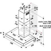 Dunstabzugshaube Whbs 64 F lm X - Edelstahlfarben, Basics, Kunststoff/Metall (59,8/114,7/45cm) - Whirlpool