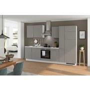 Küchenblock Turin 310 cm Arktisgrau/Seidengrau - Grau, LIFESTYLE, Holzwerkstoff (310cm) - Qcina