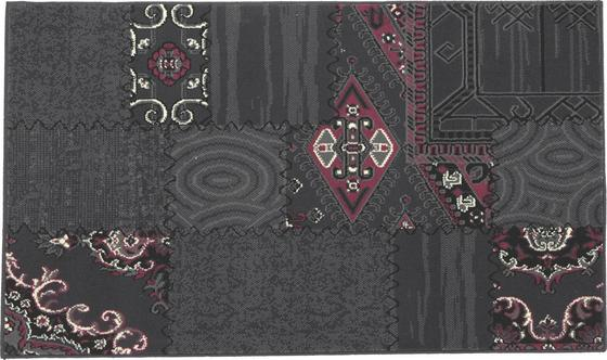 Webteppich Ornament 100x160 cm - Lila/Grau, KONVENTIONELL, Textil (100/160cm)