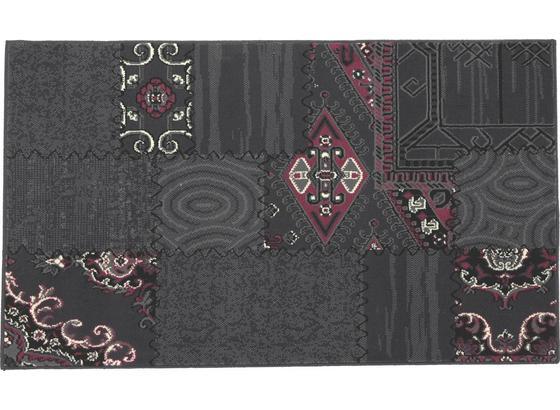 Webteppich Ornament 60x110 cm - Lila/Grau, KONVENTIONELL, Textil (60/110cm)