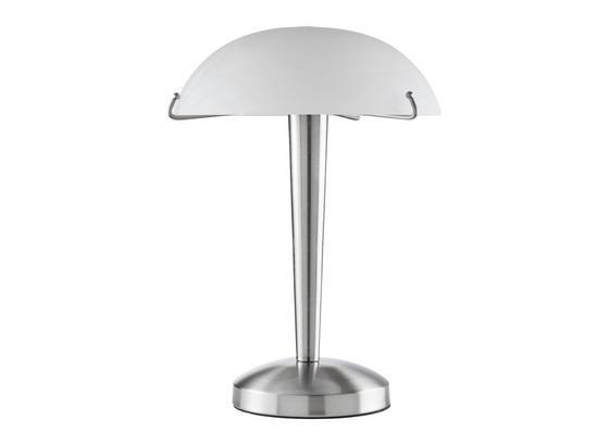 Stolová Lampa Vinzenz - biela/niklová, Konvenčný, kov/sklo (22/22/33cm) - Mömax modern living