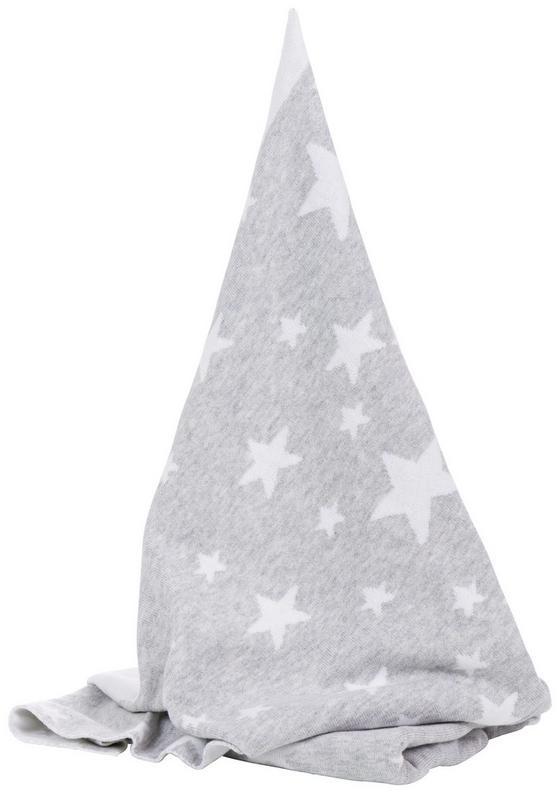Strickdecke 1600-07 - Hellgrau/Weiß, MODERN, Textil (75/100cm) - Fillikid