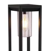 Außenleuchte Candela 15 Watt H: 100 cm Aluminium - Klar/Schwarz, Basics, Kunststoff/Metall (15/15/100cm) - Globo