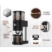 Trisa Kaffeemühle Perfect Coffee Grinder Schwarz/Silber - Edelstahlfarben/Schwarz, MODERN, Kunststoff (23/11,5/34cm)