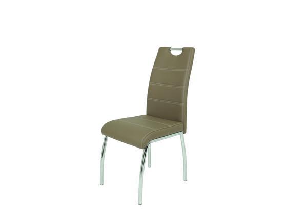 Židle Susi - bílá/světle hnědá, Moderní, kov/umělá hmota (44/98/61cm)