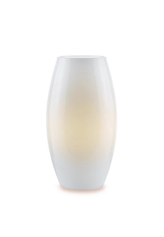 Tischleuchte Larissa - Opal, KONVENTIONELL, Glas (14/27cm) - Ombra