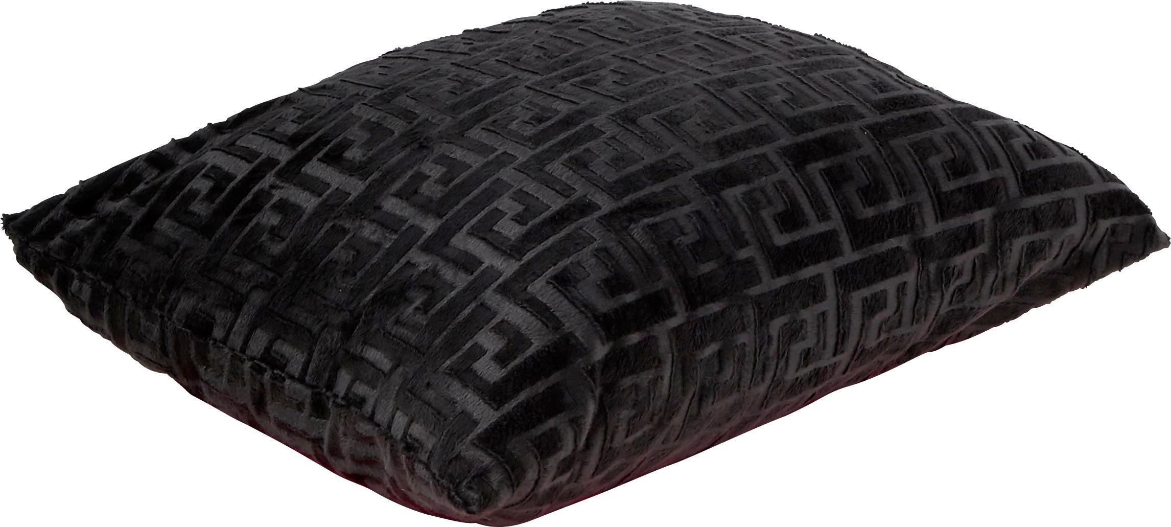 Zierkissen Mäander - Anthrazit, KONVENTIONELL, Textil (48/48cm) - OMBRA