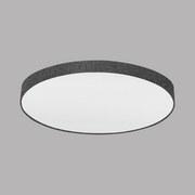 Deckenleuchte Pasteri - Weiß/Grau, MODERN, Textil/Metall (98/17cm)