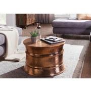 Couchtisch Rund aus Aluminium Karam, Kupferfarben - Kupferfarben, LIFESTYLE, Metall (62/62/41cm) - Livetastic