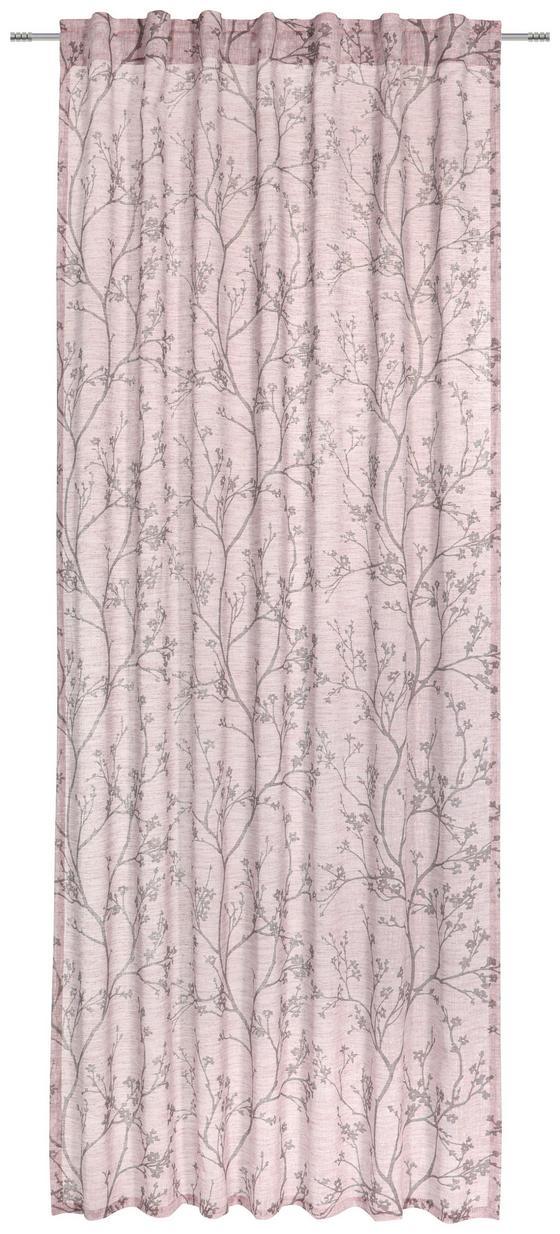 Závěs Hotový Judith - růžová, Romantický / Rustikální, textil (140/245cm) - Mömax modern living