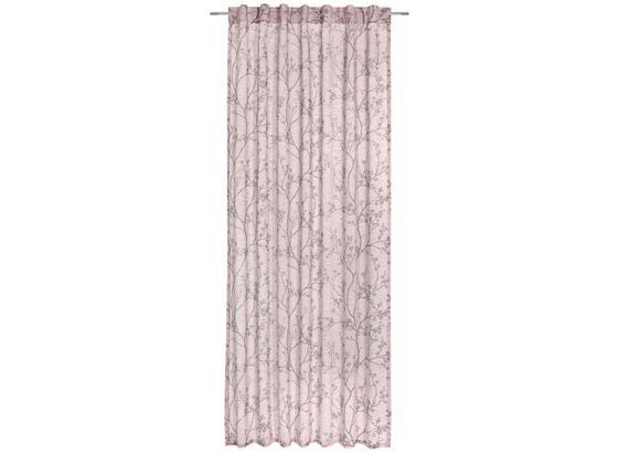 Záves S Pútkami Judith - ružová, Romantický / Vidiecky, textil (140/245cm) - Mömax modern living