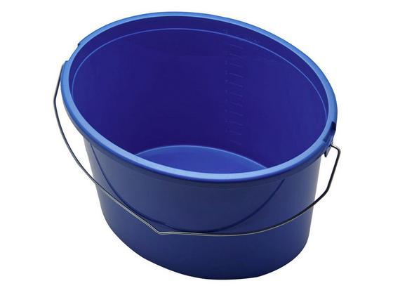 Eimer Blau - Blau, KONVENTIONELL, Kunststoff/Metall (34cm) - Gebol