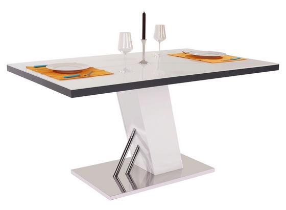 esstisch metz 160cm wei mit glasplatte online kaufen m belix. Black Bedroom Furniture Sets. Home Design Ideas