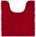WC-Vorleger Liliane - Dunkelrot, KONVENTIONELL, Textil (45/50cm) - Ombra