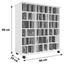 CD-Regal mit Schranktüren Auf Rollen Luxor B 86cm, Eiche - Eichefarben, Basics, Glas/Holz (86/98/39cm) - Livetastic