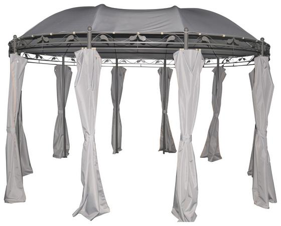 Pavillon Savannah - Dunkelgrau/Hellgrau, MODERN, Kunststoff/Textil (400/300/273cm) - Luca Bessoni