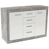 Komoda Sideboard Malta - sivá/biela, Moderný, drevený materiál (138/86/35cm)