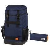 Rucksackset Blau Melange - Blau, MODERN, Textil (30/52/19cm) - Walker