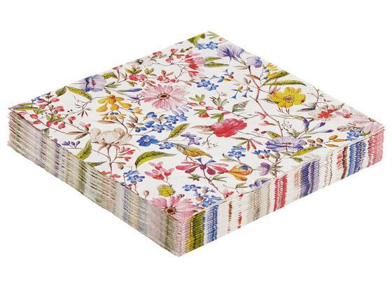 Servítky Florentina - viacfarebná/biela, papier (33/33cm)