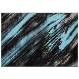 Webteppich Blau - Blau/Beige, Basics, Textil (120/170cm)
