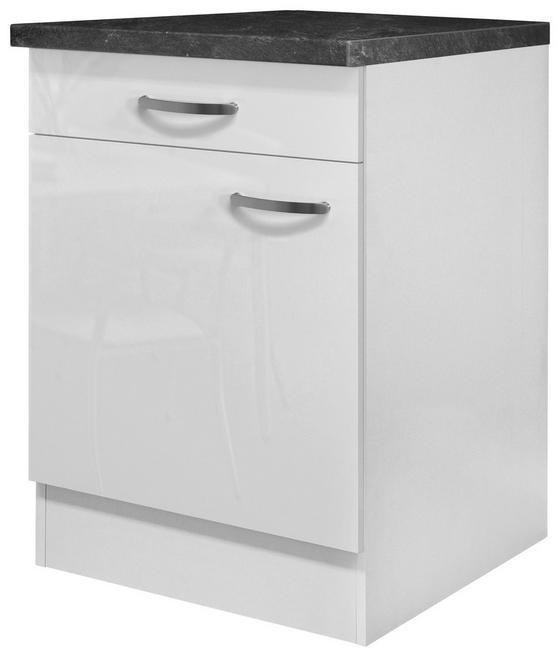Kuchyňská Spodní Skříňka Alba  Us60 - bílá, Moderní, kompozitní dřevo (60/86/57cm)
