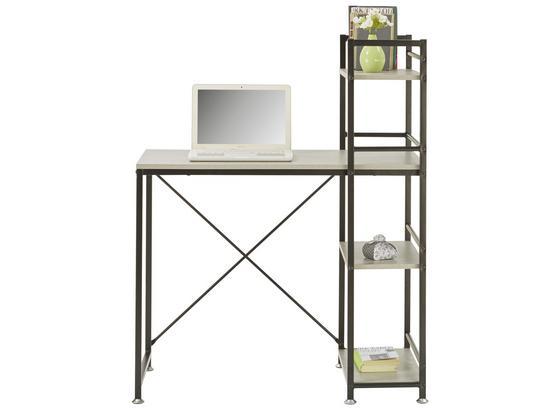 Písací Stôl Sandro 2 - čierna/sivá, kov/kompozitné drevo (90/114/52cm) - Mömax modern living