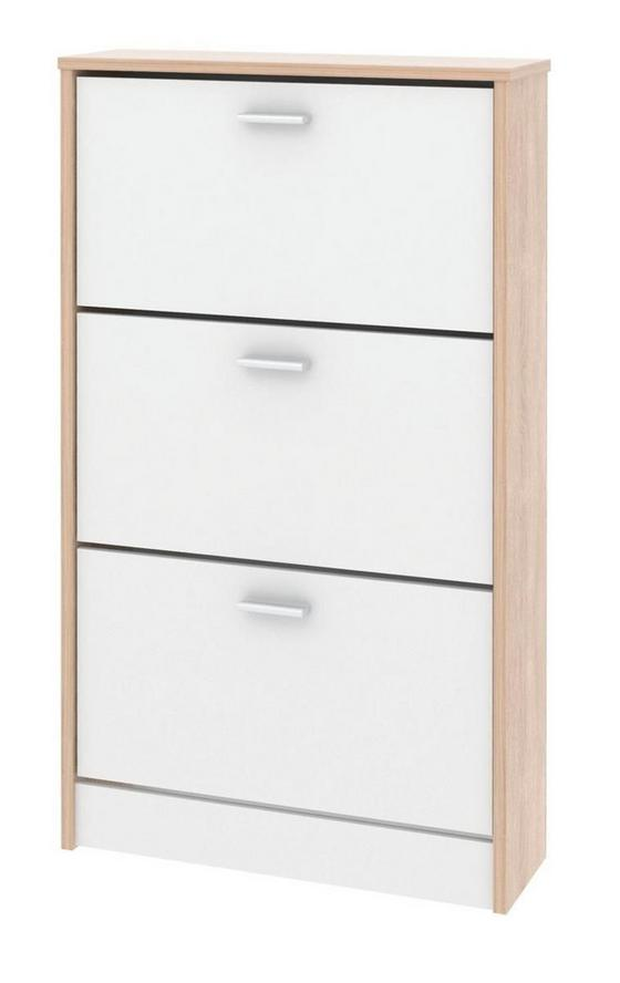 Schuhschrank Da13 - Eichefarben, MODERN, Holzwerkstoff (58/107/18cm)
