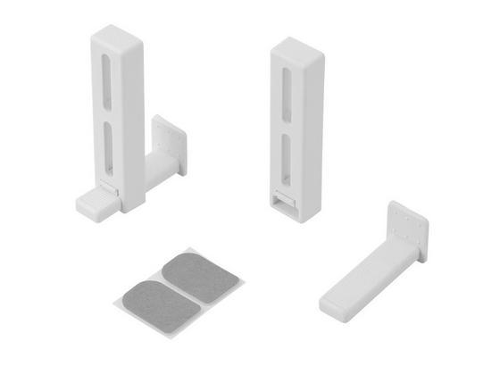 Klemmträger Weiß - Weiß, KONVENTIONELL, Kunststoff/Metall - Ombra
