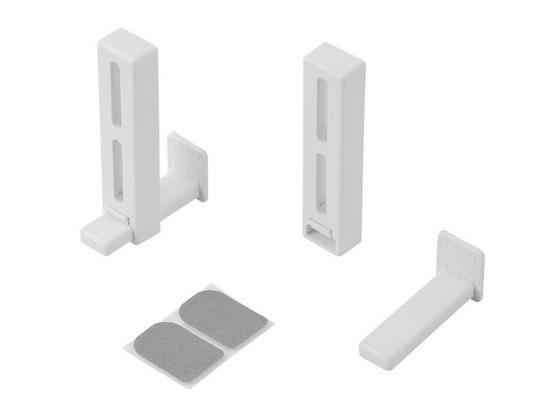 Klemmträger Weiß - Weiß, KONVENTIONELL, Kunststoff/Metall