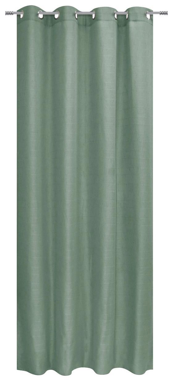 Ösenvorhang Beate - Grün, MODERN, Textil (140/245cm) - Luca Bessoni