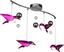 LED-Deckenleuchte Vogel Pink - Pink, MODERN, Kunststoff/Metall (80/22/48cm)