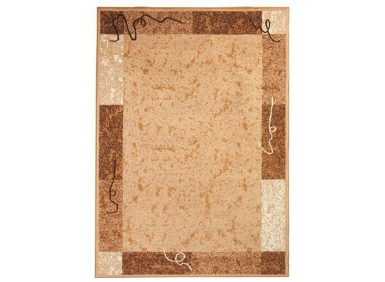 Webteppich Maximilian 60x110 cm - Beige, KONVENTIONELL, Textil (60/110cm) - Ombra