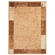 Webteppich mit Bordüre - Creme, KONVENTIONELL, Textil (100/160cm)