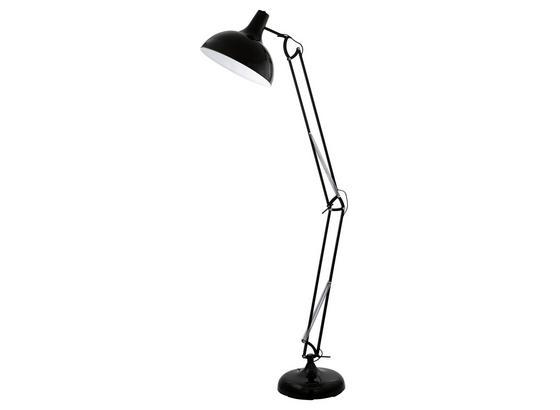 Stehleuchte Borgillio - Schwarz, MODERN, Metall (190cm)