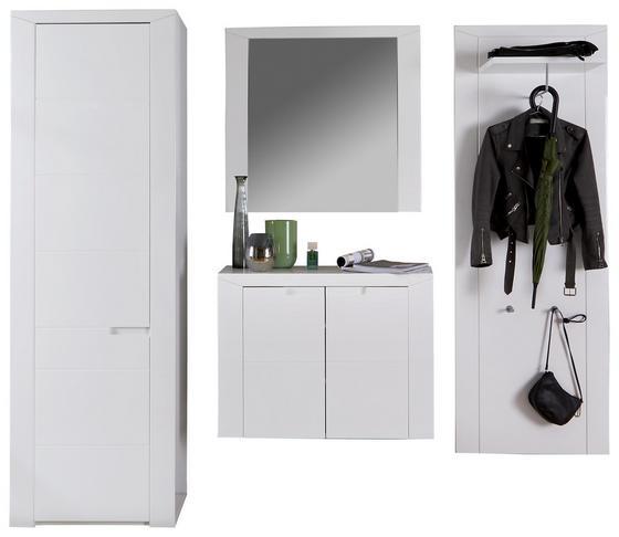 Garderobenkombination Bree 2 - Weiß, MODERN, Karton/Holzwerkstoff (217/203/38cm)