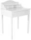 Schminktisch Bergen 80cm Weiß - Weiß, MODERN, Holz/Holzwerkstoff (80/100/48cm) - Ombra