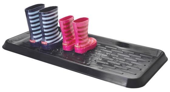Cipőtároló Műanyag - Fekete, konvencionális, Műanyag (75/38/3cm)