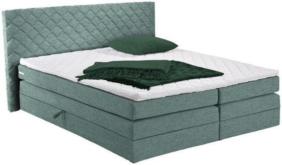 Boxspringbett Allegra 180x200 Pastellgrün - Pastellgrün/Schwarz, KONVENTIONELL, Holz/Holzwerkstoff (180/200cm)