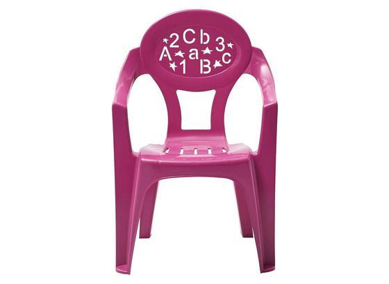 Kinder-Gartensessel Pink, Kunststoff - Pink, KONVENTIONELL, Kunststoff (37/57/27cm) - Ombra