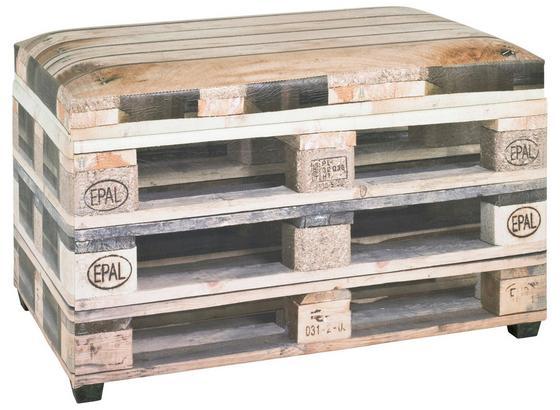 Sedací Box Palette - přírodní barvy, Moderní, kompozitní dřevo/umělá hmota (65/42/40cm)
