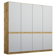 Drehtürenschrank Rangun B: 181 cm Grau - Eichefarben/Grau, Basics, Holz/Holzwerkstoff (181/197/54cm) - MID.YOU