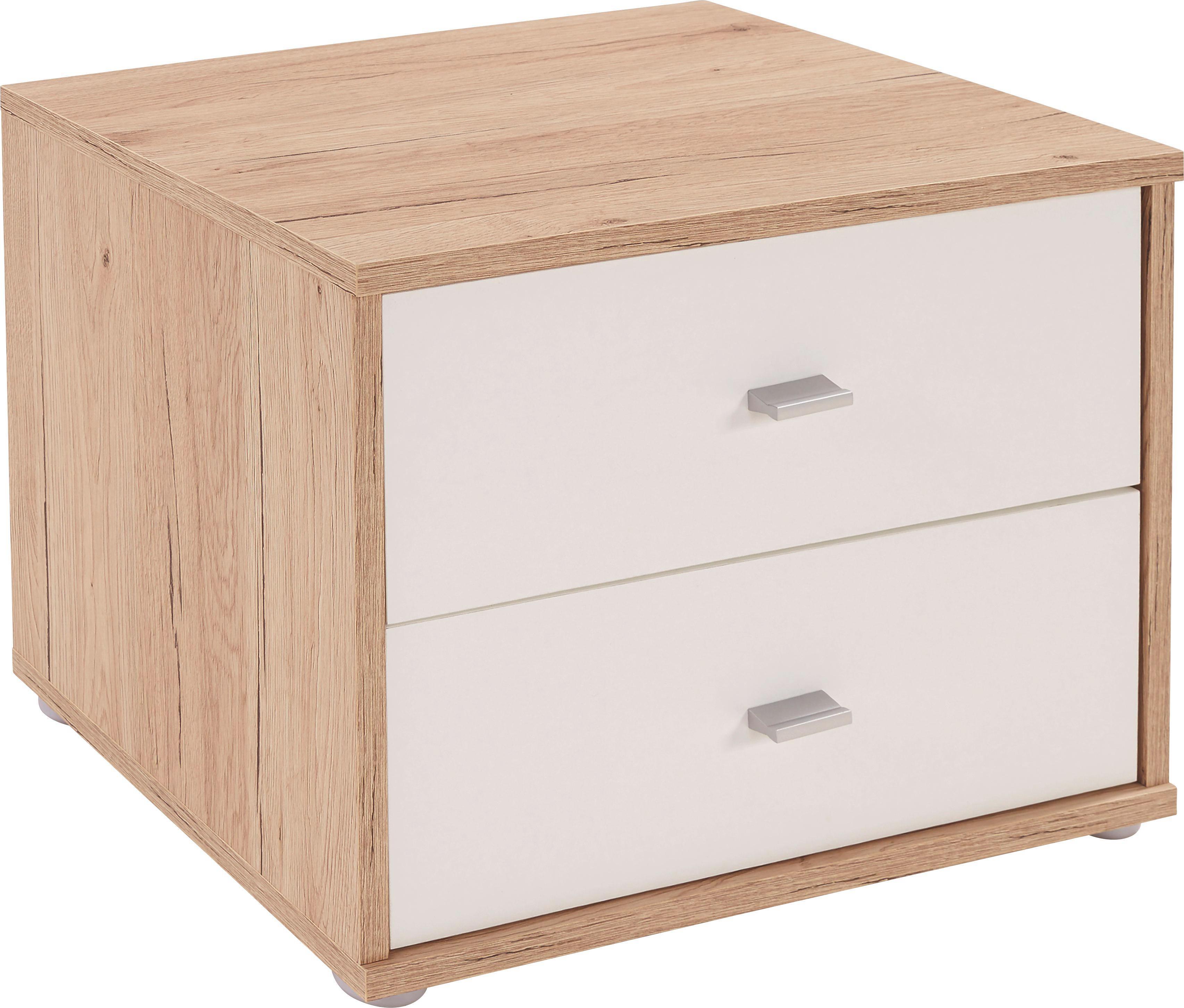 Éjjeliszekrény 4-you Yuk12 - tölgy színű/fehér, konvencionális, faanyagok (50/38.1/35.2cm)