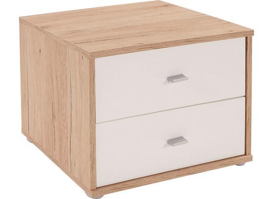 Noční Stolek 4-you Yuk12  *cenový Trhák* - bílá/barvy dubu, Konvenční, kompozitní dřevo (50/38.1/35.2cm)