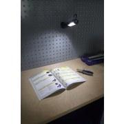 LED-Arbeitsleuchte H: 21,5 cm - Blau/Grau, MODERN, Kunststoff (4,5/21,5/3cm) - Erba