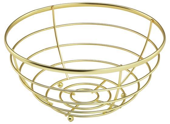 Miska Na Ovocie Serdy - zlatá, kov (25/12,7cm) - Mömax modern living