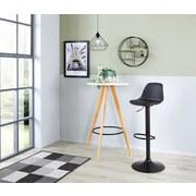 Barová Židle Scandi - černá/barvy chromu, Moderní, kov/textil (41,5/84-104/37,5cm) - Luca Bessoni