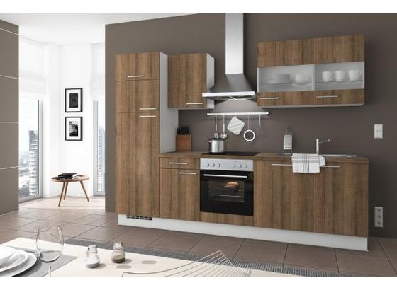 Küchenblock Artwood 280cm Eiche Marone - Eichefarben, LIFESTYLE, Holzwerkstoff (280cm) - Qcina