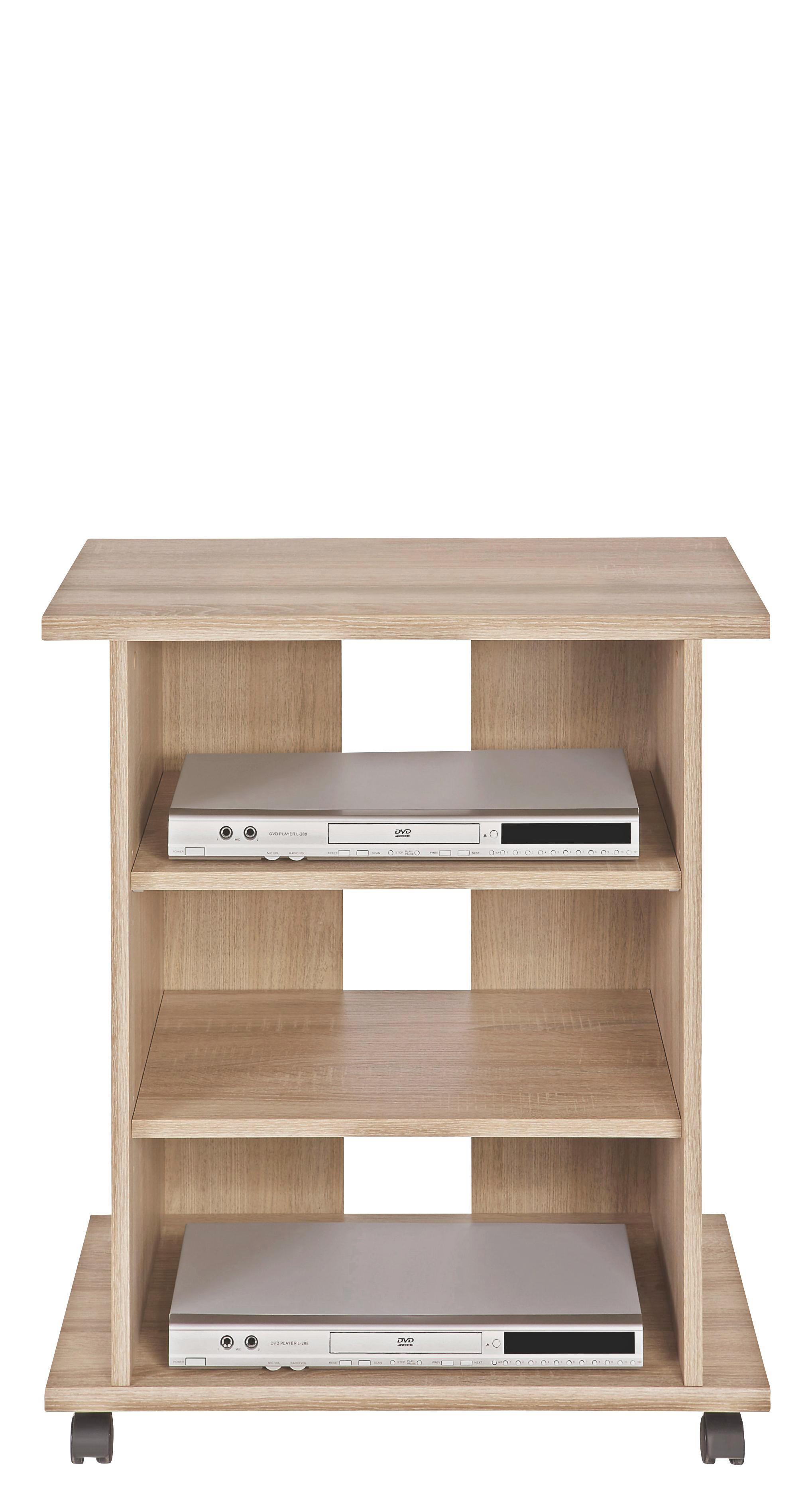 Tv-állvány Jürgen 2 - Sonoma tölgy, konvencionális, faanyagok (65/76/40cm)