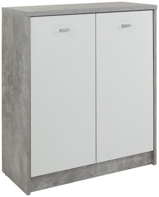 Kommode 4-You New YUK03 - Weiß/Grau, MODERN, Holzwerkstoff (74/85,4/34,6cm)